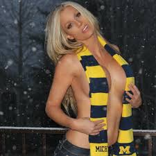 michigan wolverines fan gear stunning photos of the gorgeous elle johnson rocking michigan gear