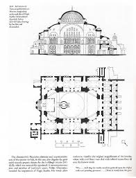 floor plan of hagia sophia hagia sophia longitudinal section and floor plan including ambo
