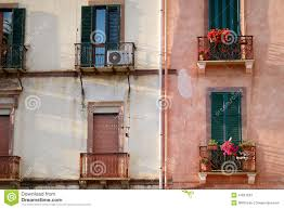 nice mediterranean house facades stock photo image 41681533