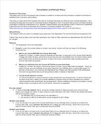 sample refund policy 8 documents in word pdf