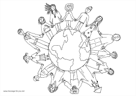 children of the world coloring page free download