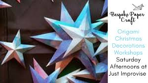 bespoke paper craft workshops origami christmas decorations