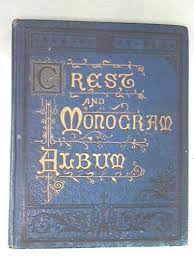 monogram photo album crest and monogram album id 59153 ebay crest and monogram