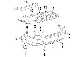 lexus gs300 parts diagram parts com lexus rear bumper bumper and components bumper cover