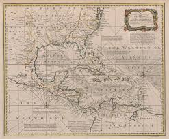 Map Of North And South America by File 1720 Map Of The West Indies With The Adjacent Coasts Of North