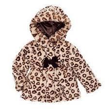 pistachio infant girls brown leopard print faux fur