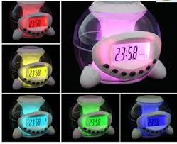 night light alarm clock ball shape desk led night light color change natural music alarm