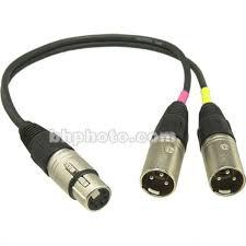 sennheiser acs5 5 pin xlr y cable acs5 b u0026h photo video
