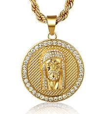 gold jesus pendant necklace images Jesus medallion quot men 39 s 18k real gold plated pendant necklace with jpg
