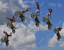 motocross stunts freestyle stunt biker free stile performing stock photo picture and