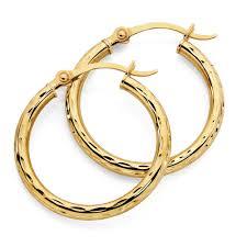 gold hoop earrings earrings in 10kt yellow gold