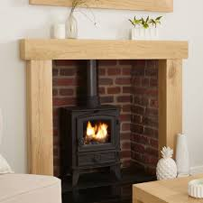 oak fire surround canterbury solid french rustic beam