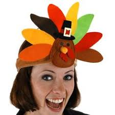thanksgiving hats turkey headband maybe feathers in back and in front