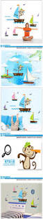 17 best ocean stickers images on pinterest colorful cartoon funny airplane cloud sky cute monky sea dream home decor for kids room decals wall stickers child nursery
