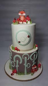 woodland themed baby shower cake faeryyumyum cakes by lisa