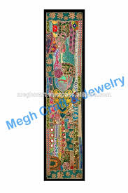 Wholesale Elephant Handmade Embroidered Wall Hanging Tapestry - Indian wall hanging designs