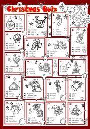 worksheet christmas quiz