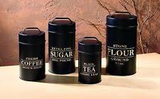 black canister sets for kitchen unbranded metal kitchen canister sets ebay