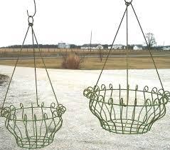 hanging planter basket wrought iron georgian hanging planter basket in 2 sizes