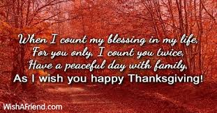 when i count my blessing in thanksgiving greetings