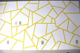 Wall Paintings Designs Geometric Triangle Wall Paint Design Idea With Tape Triangle