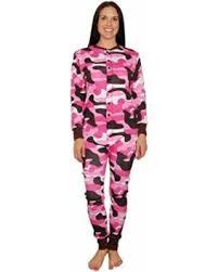 deal alert lazy one womens pink camo flapjacks onesie