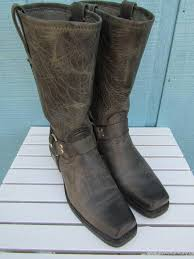 womens boots size 12 narrow womens boots frye harness boots grey leather mint