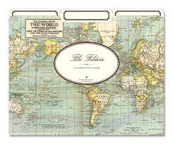 cavallini file folders world map file folders by cavallini co