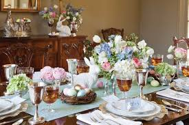 Easter Breakfast Table Decorations by Elegant Easter Tablescape