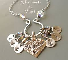 grandmother necklace grandmother charm necklace accordion necklace