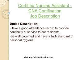 Certification Letter Of Attendance Sle Nursing Assistant Job Description Rn Duties Ld Nurse Resume