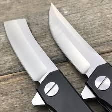 katana kitchen knives ldt katana folding knife d2 blade titanium handle cing