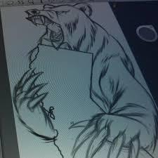 california bear courtesy of an atlien tattoo sketch u2026 flickr