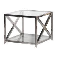 Criss Cross Coffee Table Modern Chrome Glass Criss Cross Side Table Shropshire Design