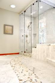 river rock bathroom ideas marble bathroom floor with river rock contemporary bathroom