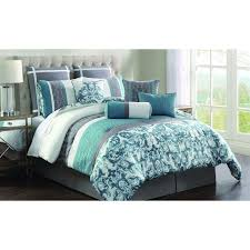 Best 10 Blue Comforter Sets by Blue And Grey Comforter Sets Fraufleur Pertaining To Blue And Grey