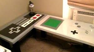 desks for gaming consoles nintendo themed desk makes studying nerdy and fun pic