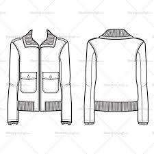 women u0027s bomber jacket fashion flat template u2013 illustrator stuff