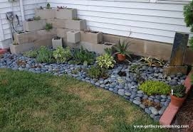 outdoor and garden creation of bricks and stone application from