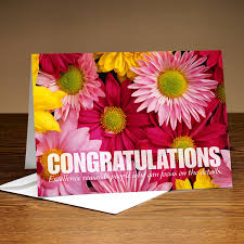 congratulations flowers with flowers greetings card