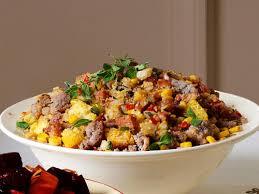 blue and yellow cornbread chorizo recipe