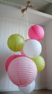 Paper Lantern Chandelier Paper Lanterns With Ribbon Icing Designs Party Backdrops