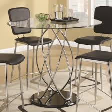 bar height glass table ciccone contemporary glass counter height table with spiral base