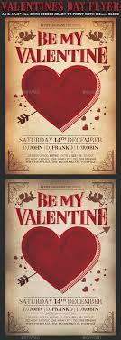 valentines flyer template valentines day vintage flyer template by hotpin graphicriver