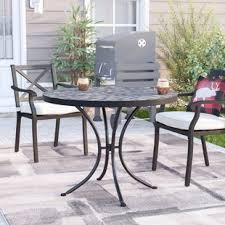 slate outdoor dining table slate patio table wayfair