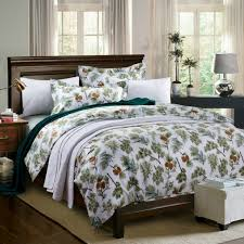 4pc egyptian cotton green pine tree print bedding set for sale