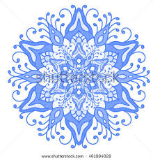 Oriental Design Floral Symmetrical Geometrical Symbol Vector Flower Stock Vector