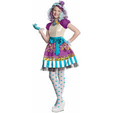 puffy halloween dresses ever after high madeline hatter girls u0027 child halloween costume