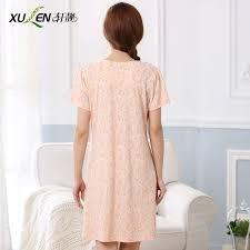 elderly nightgowns 100 cotton sleepwear women s summer nightgown sleeve summer