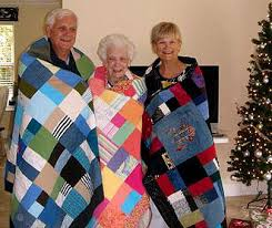 and memorial quilts made from clothing